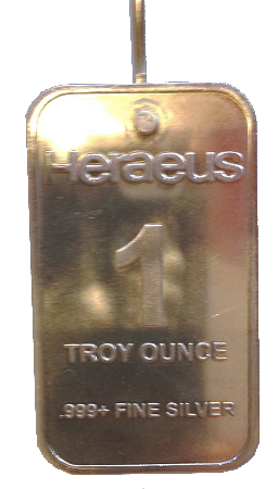 1 Troy Ounce Pure Silver Electrode