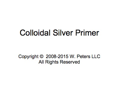 Colloidal Silver eBook